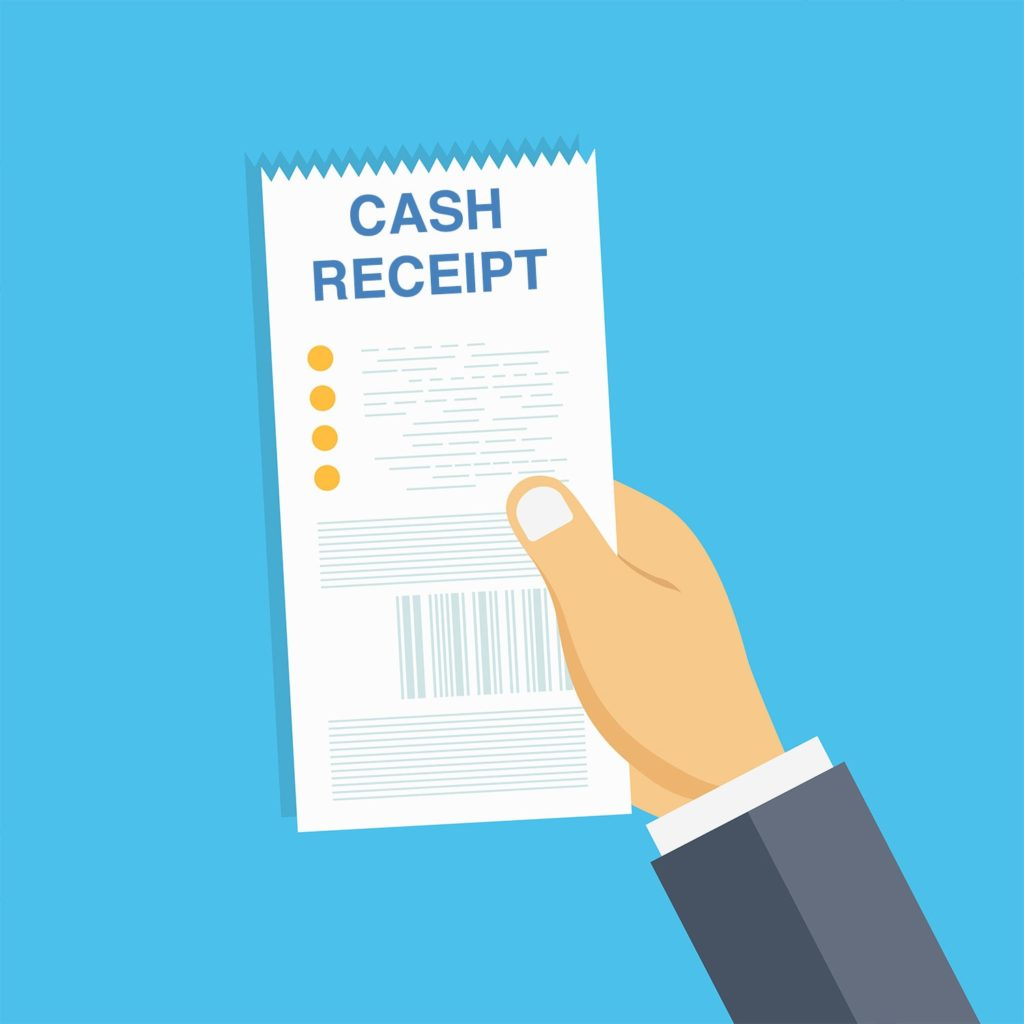 Cash receipt is the simplest way to deposit funds into a bank account by-passing the debtors ledger.