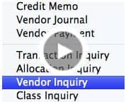 Vendor Inquiry