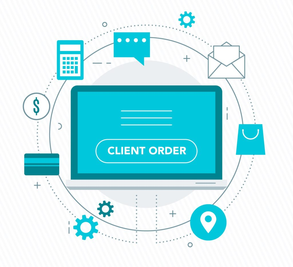 The process of entering a Client Order in SapphireOne ERP system begins with navigating to the client order screen from Sales menu in Inventory mode