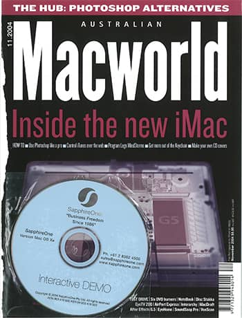 SapphireOne in Australian Macworld front page Business freedom since 1986-2004
