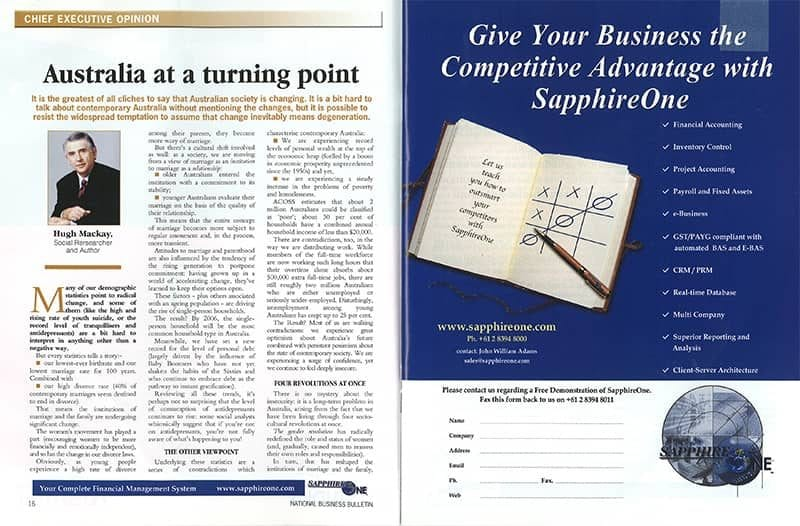 SapphireOne National Business Bulletin 2002
