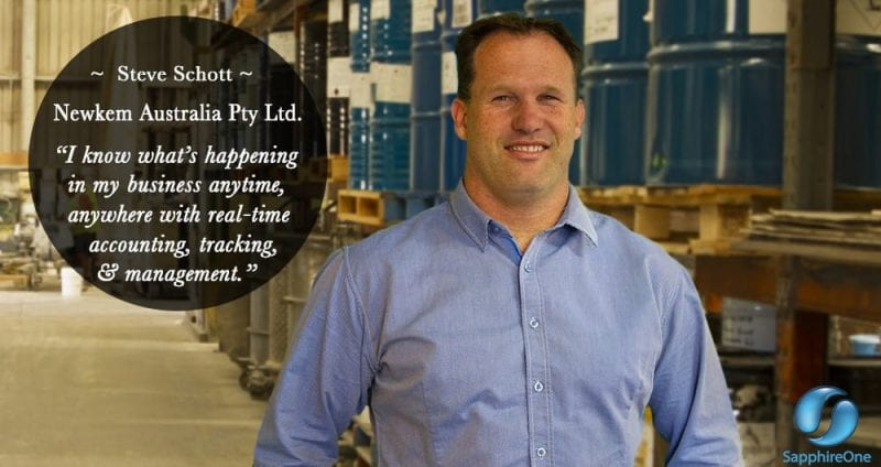 Steve Schott Newkem Australia Pty Ltd Proud user SapphireOne