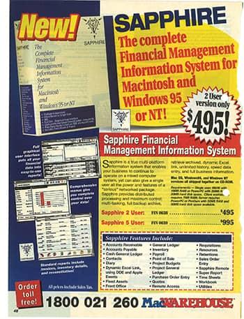 Sapphire advertisement 1995