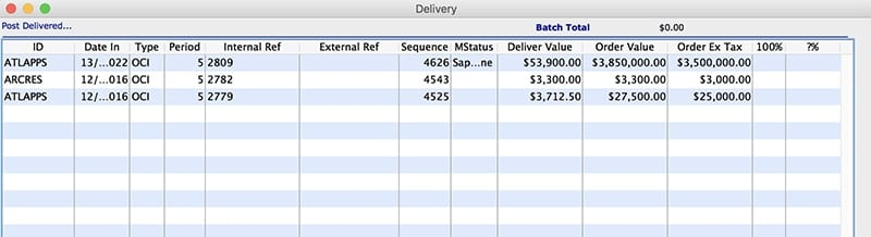 inventory management sales delivery processes mac