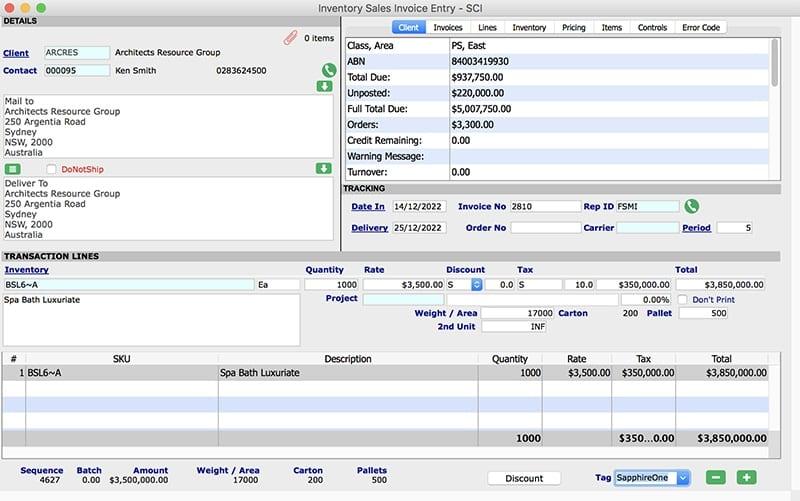 Inventory management sales invoices client invoice mac