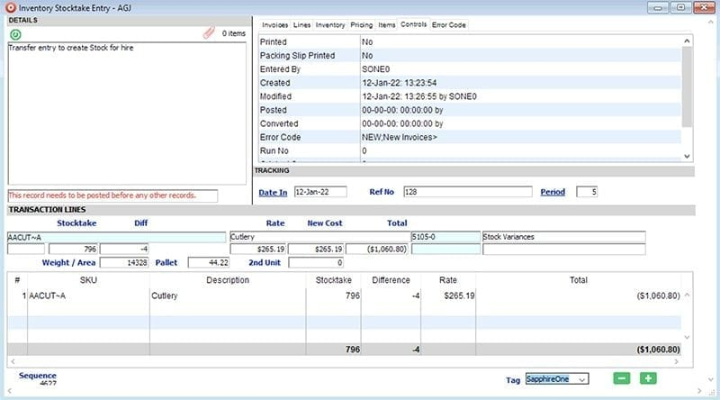 SapphireOne-Inventory-Management-Stocktake-Entry-win