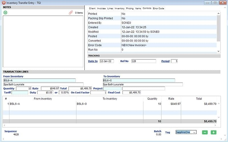 SapphireOne-Inventory-Management-transfer-Entry-win
