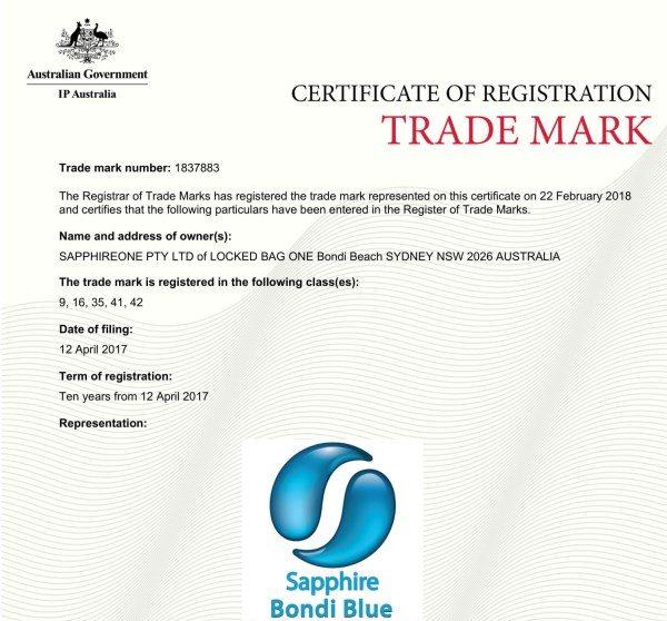 Sapphire Bondi Blue Trademark