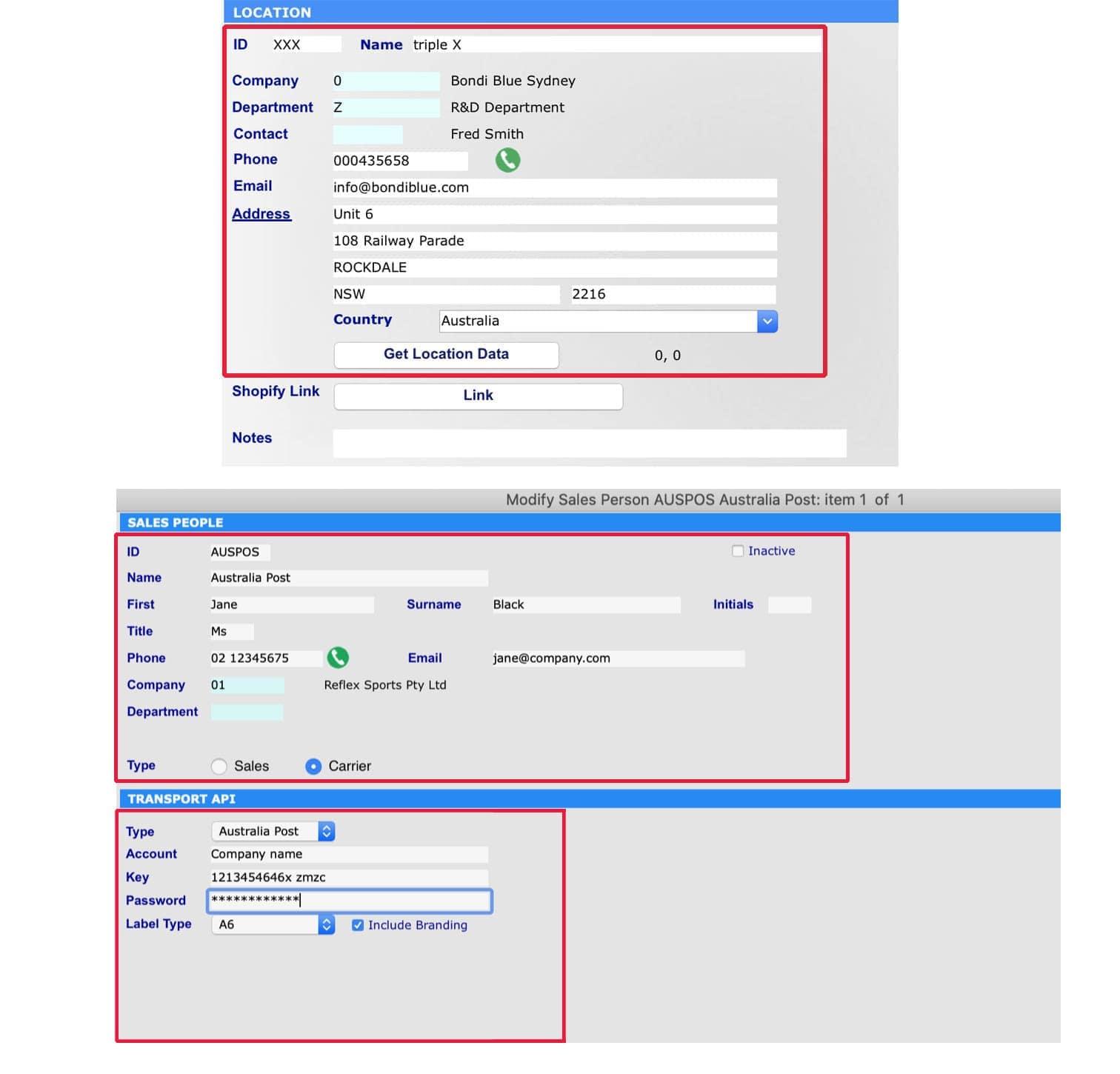API Integration with Australia Post & Startrack